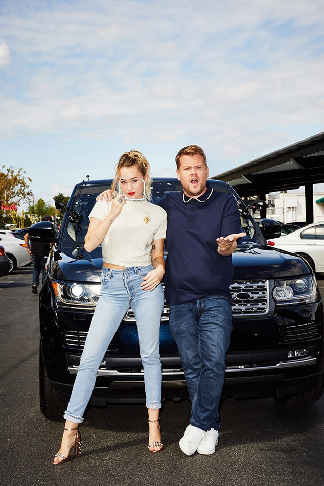 Miley Cyrus, James Corden, The Late Late Show