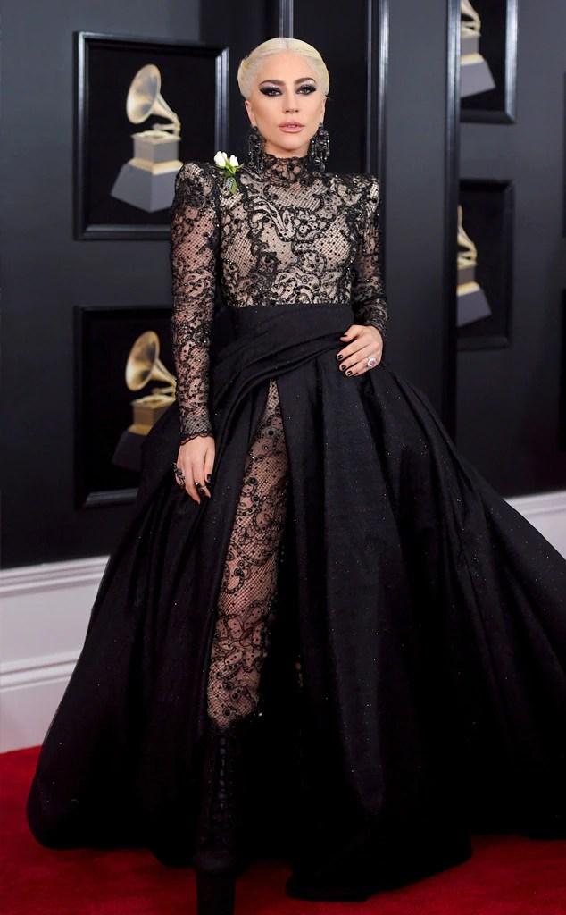 2018 Grammys Red Carpet Fashion Lady Gaga, 2018 Grammy Awards, Red Carpet Fashions