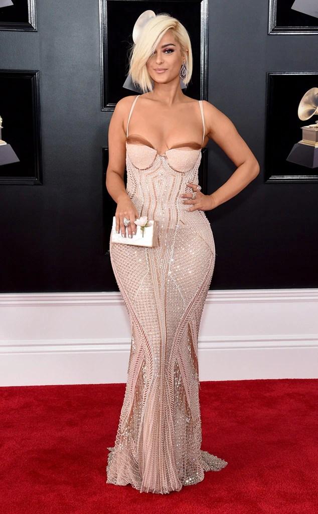 2018 Grammys Red Carpet Fashion Bebe Rexha, 2018 Grammy Awards, Red Carpet Fashions