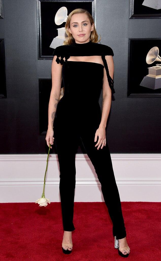 2018 Grammys Red Carpet Fashion Miley Cyrus , 2018 Grammy Awards, Red Carpet Fashions