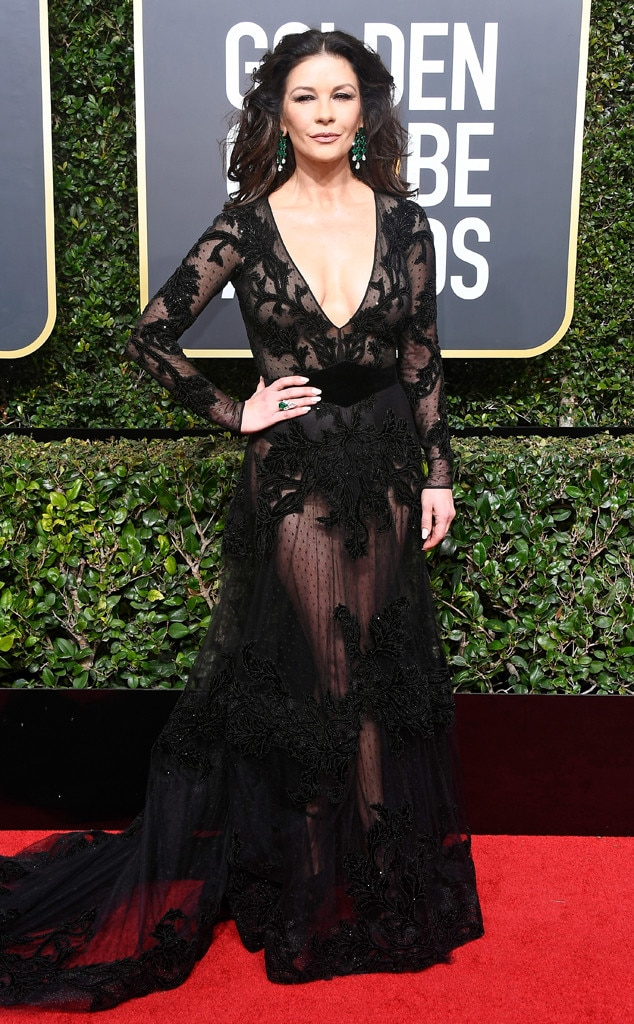 2018 Golden Globes Red Carpet Fashion Catherine Zeta-Jones, 2018 Golden Globes, Red Carpet Fashions