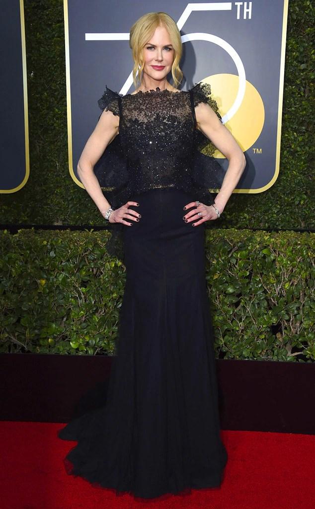 2018 Golden Globes Red Carpet Fashion Nicole Kidman, 2018 Golden Globes, Red Carpet Fashions
