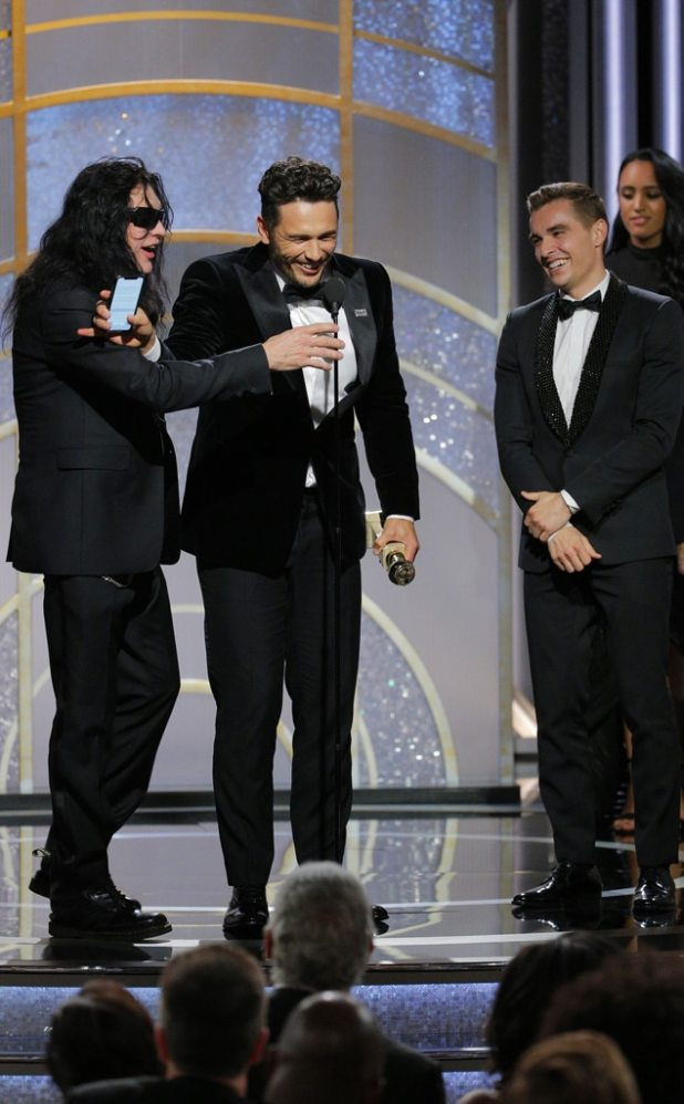 James Franco, Tommy Wiseau, Dave Franco, 2018 Golden Globes, Winners