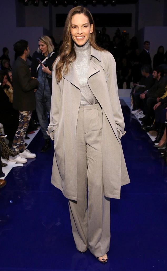 Hilary Swank, New York Fashion Week 2018