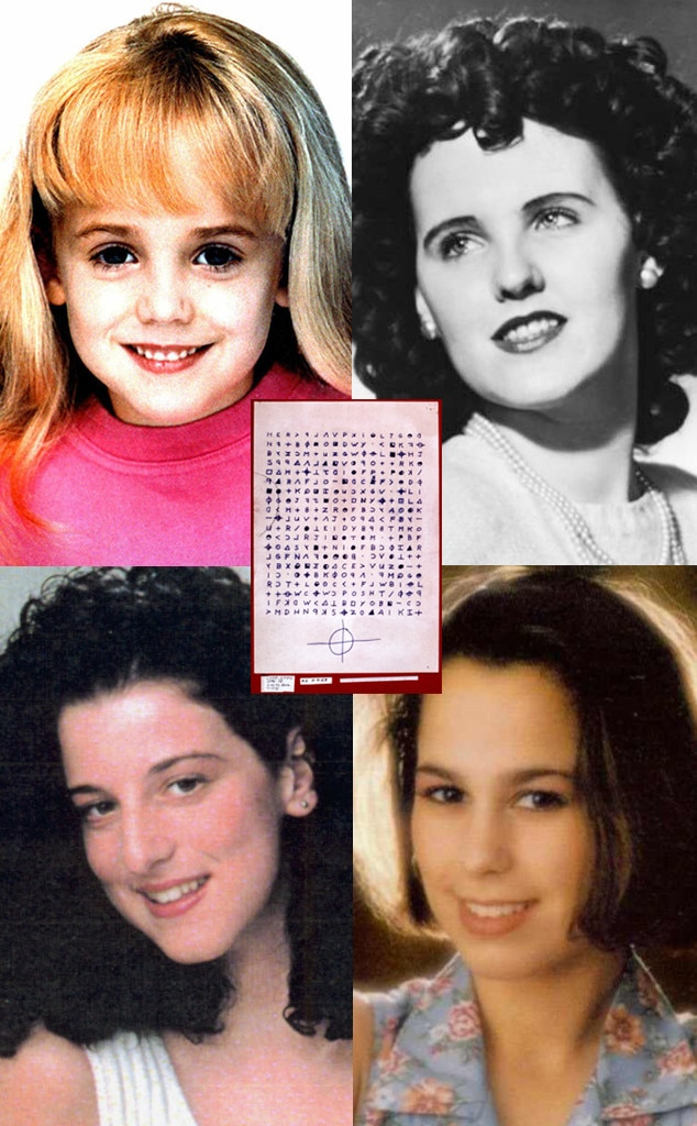 JonBenet, Laci Peterson, Elizabeth Short, Chandra Levy, Zodiac cipher