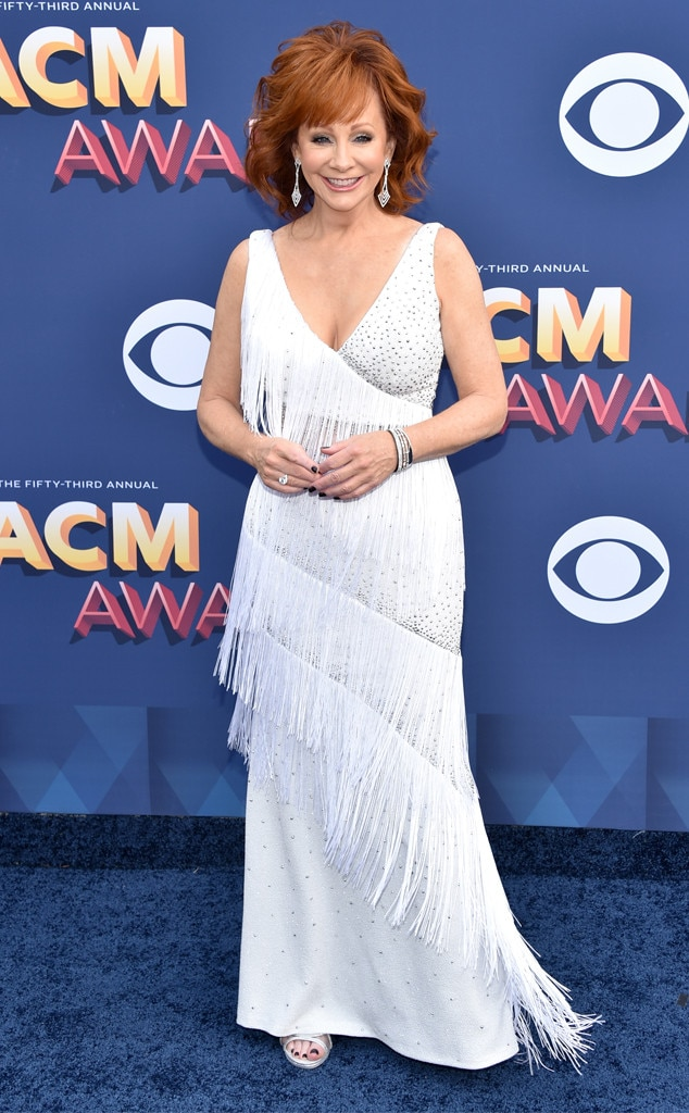 Reba McEntire from ACM Awards 2018: Red Carpet Fashion | E ...
