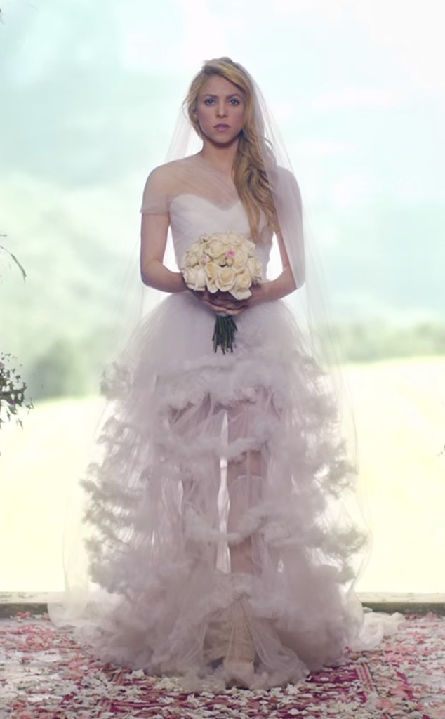 7. Shakira From Best Wedding Dresses From Music Videos Of