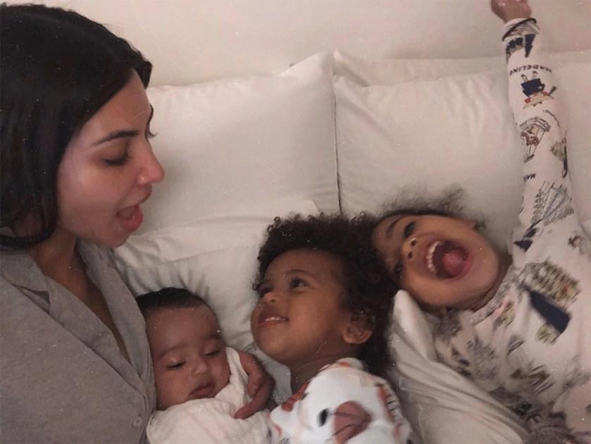 Kim Kardashian, North West, Saint West, Chicago West