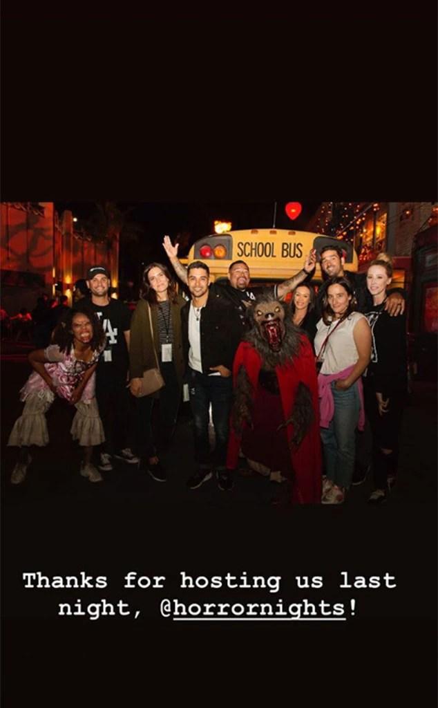 Mandy Moore, Wilder Valderrama, Universal Studios Hollywood Halloween Horror Night, 2018