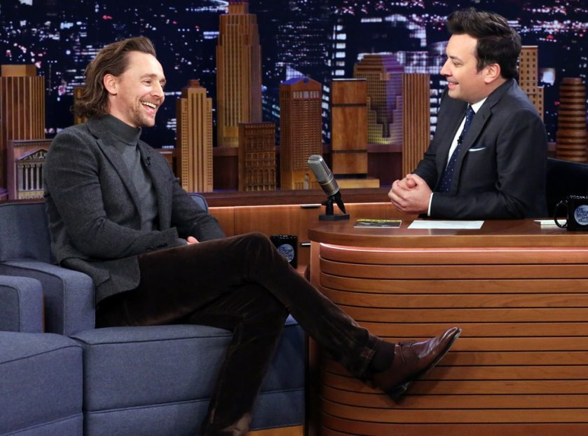 Image result for Tom Hiddleston The Tonight Show