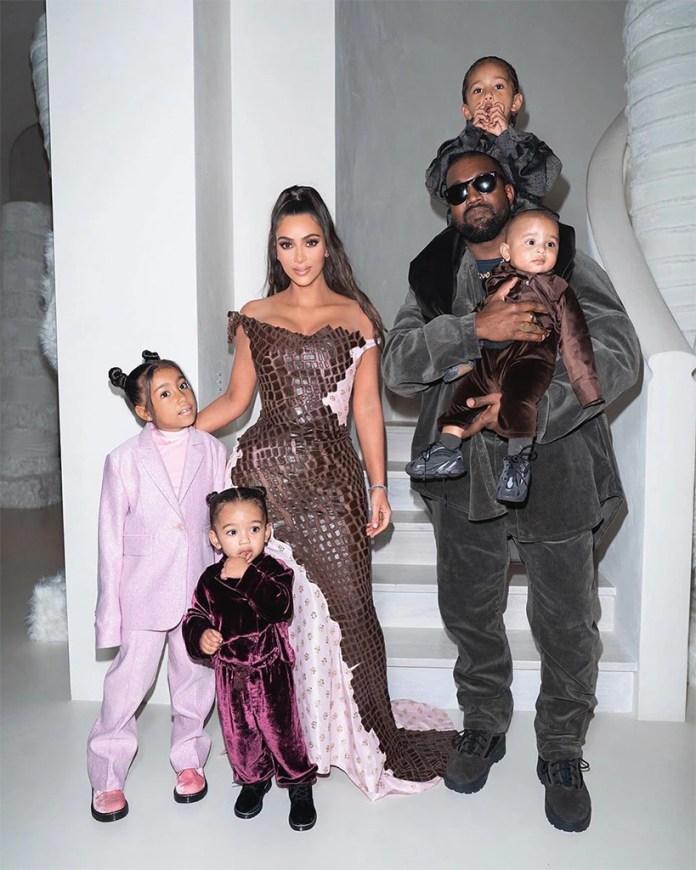 Kim Kardashian, Kanye West, Chicago West, North West, Saint West, Psalm West, Christmas Party 2019