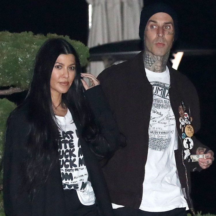 Kourtney Kardashian and Travis Barker Celebrate First ...
