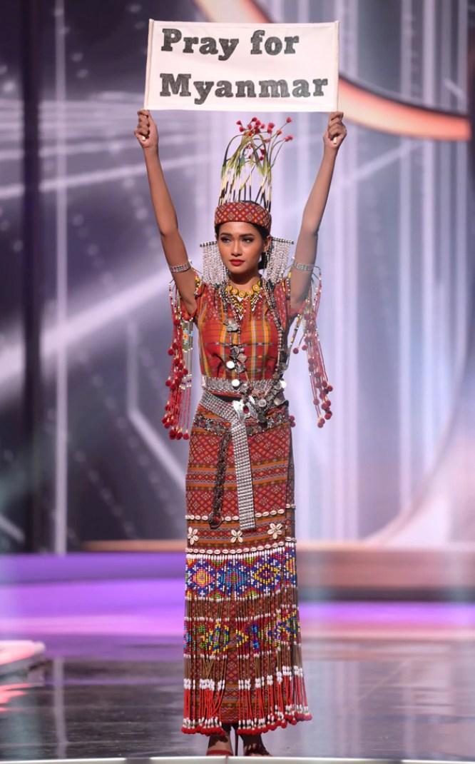 Miss Universe 2021, Miss Myanmar, Costumes, Widget