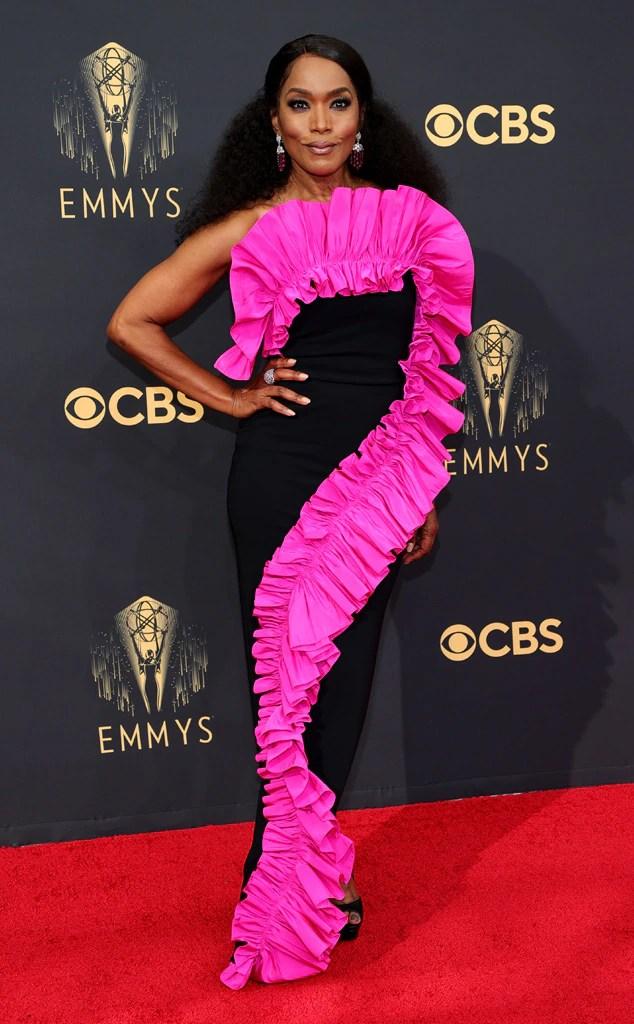 Angela Bassett, 2021 Emmys, Emmy Awards, Red Carpet Fashions, Arrivals, Riskiest Looks