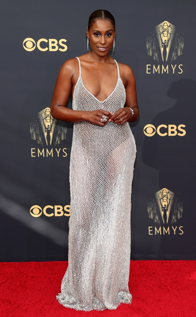 Issa Rae, 2021 Emmys, Emmy Awards, Red Carpet Fashions, Arrivals