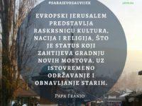 #sarajevozauvijek: Papa Franjo