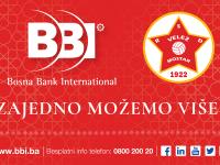 """BBI banka u novoj sezoni uz FK """"Velež"""" Mostar"""