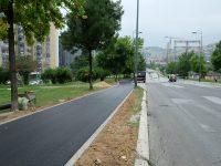 Završni radovi na asfaltiranju šetnice i trotoara na Alipašinom Polju
