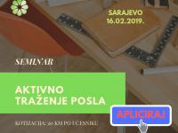 """Javni poziv za prijave na seminar """"Aktivno traženje posla"""""""