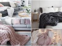 Pokrivači od krupnih pletiva za hladne dane