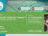 """Predavanje u Tabačkom: Je li Bosanski vilajet bio """"taman""""?"""