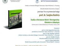 Promocija nove knjige prof. dr. Sanjina Kodrića