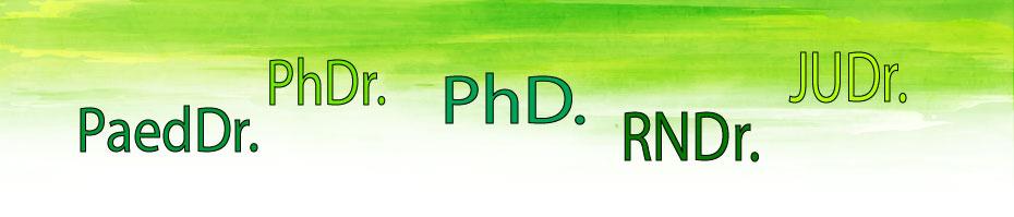 Kde sa píše titul PhDr.