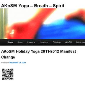 AKoSM Yoga - Breath - Spirit http://Yoga.ArthurKlein.com