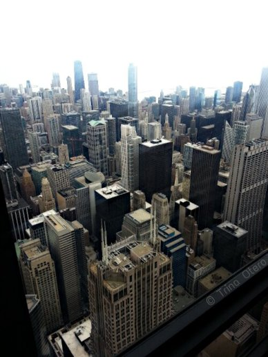 Here is a view of the city from a different area inside the Skydeck.