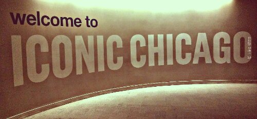 """This is a very cool welcome """"sign"""" inside the Willis aka Sears Tower."""