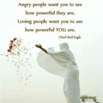 being angry versus being loving