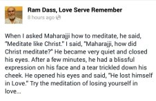 meditate like christ, a quote by ram dass