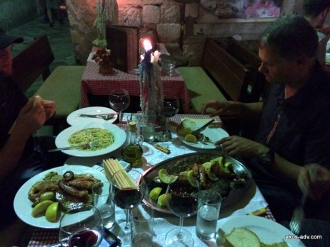 W restauracji Scala Santa