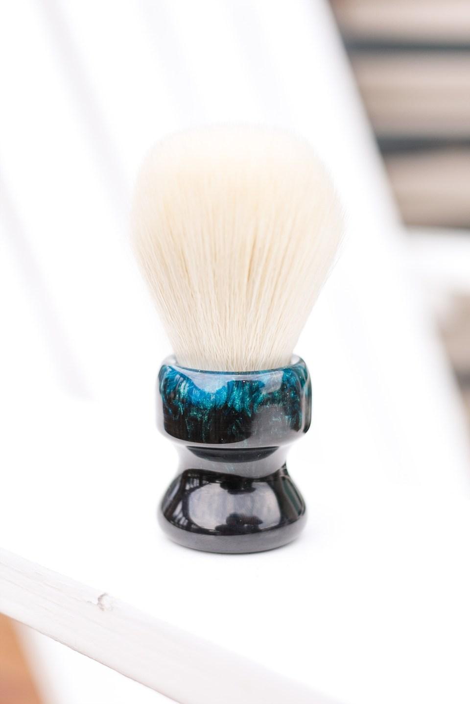 Black and Blue Shaving Brush