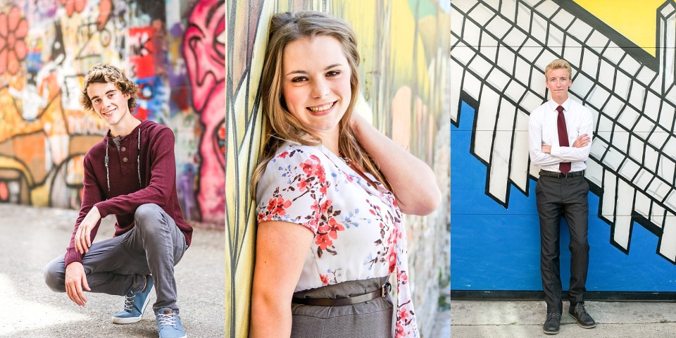 Senior with the Graffiti Walls