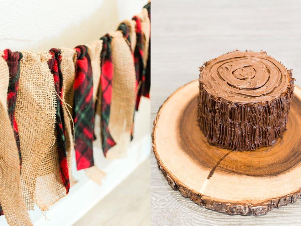 Lumber jack themed cake smash