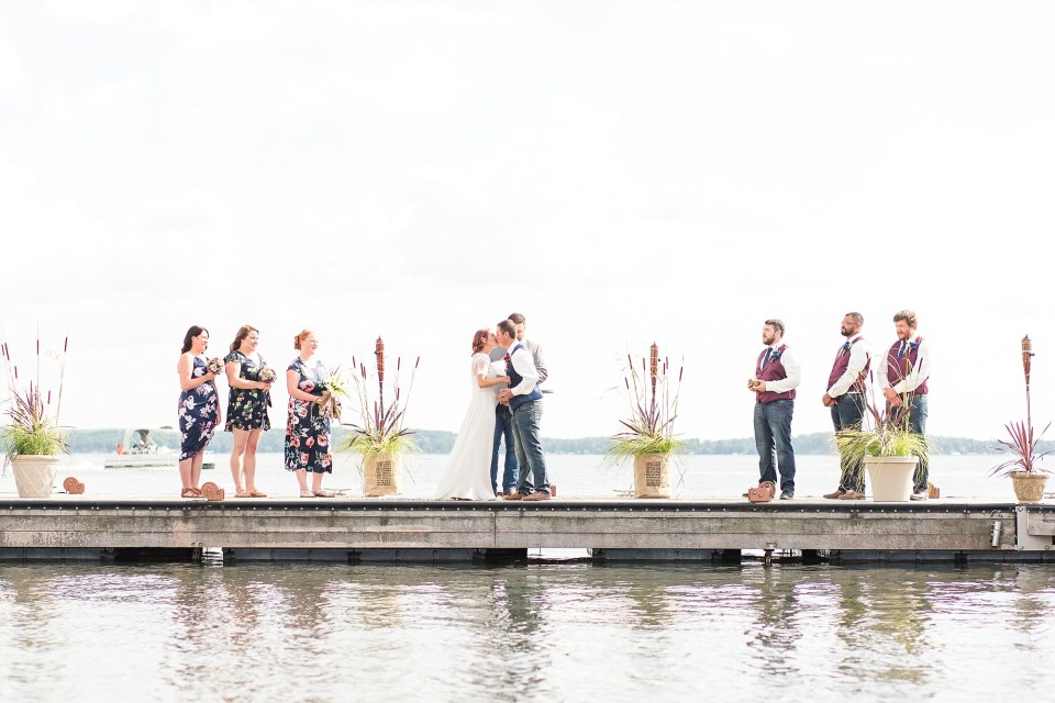 Lakeside wedding ceremony in Detroit Lakes