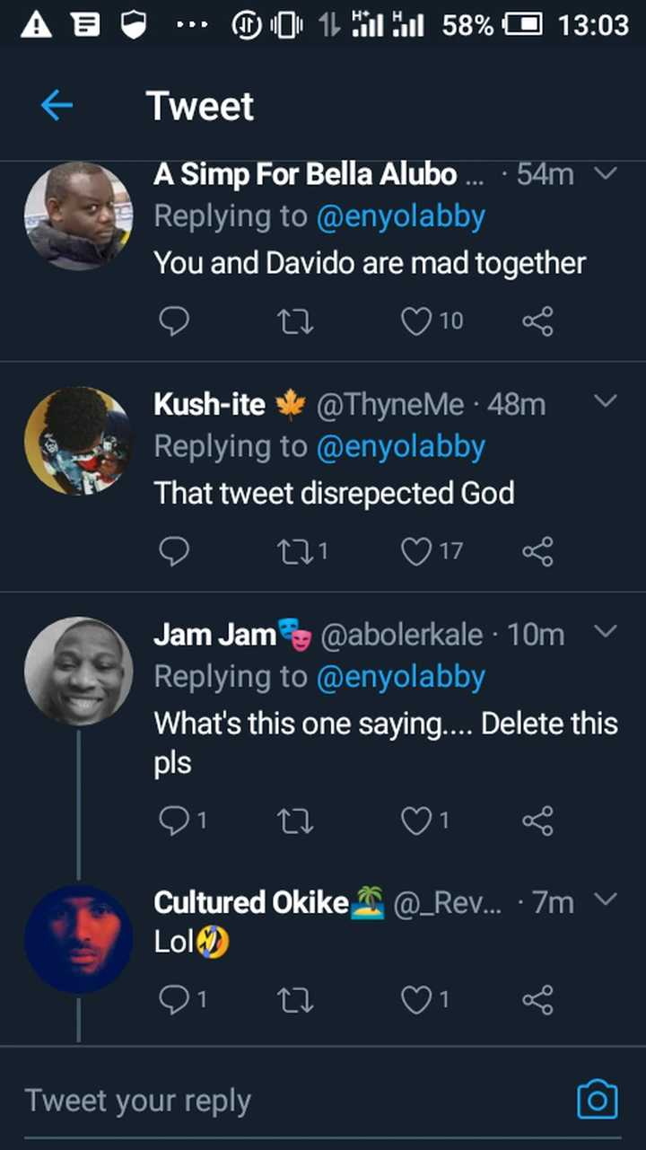 If you disrespect Davido you literally disrespected God - Lady says sparks reactions online