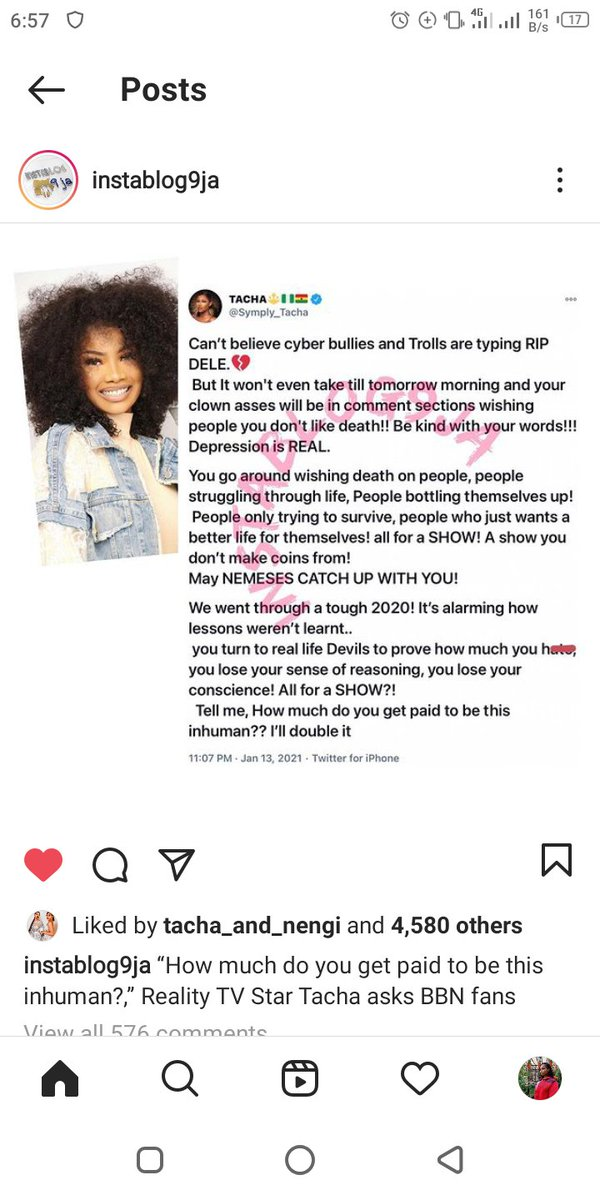 """""""How much do you get paid to be this inhuman?,"""" - Reality TV Star Tacha asks BBN fans"""