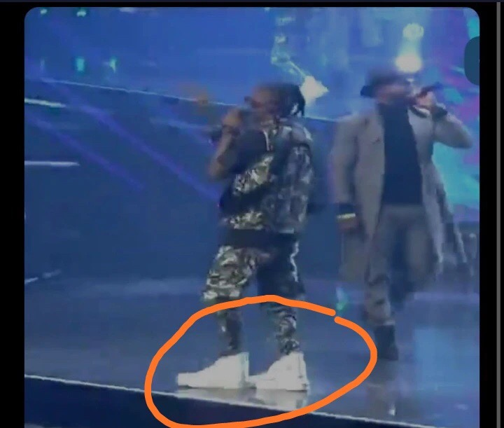 #14thHeadies: Mixed reactions to the shoe Laycon wore to the Headies Award ceremony (Photos)