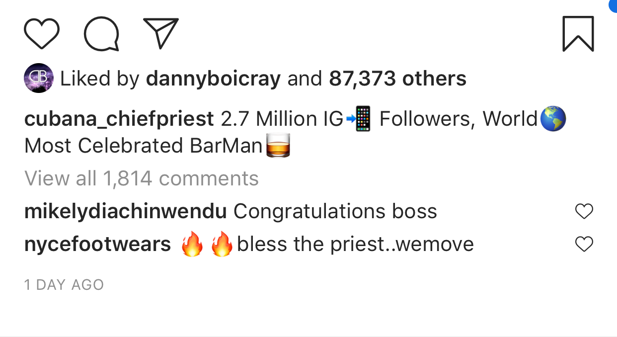 """""""I am the world most celebrated barman"""" - Cubana Chief Priest brags"""