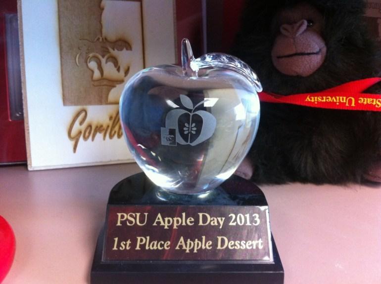 My Apple Day Dessert Contest Trophy