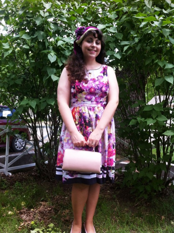 Me in my new vintage inspired dress from JcPenny