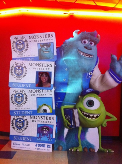 Posing for my Monster ID card