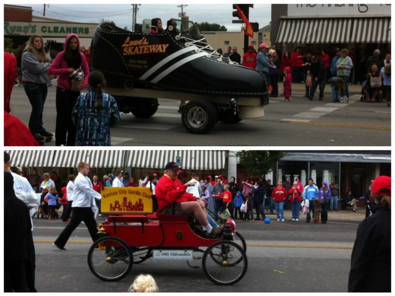 Some other creative vehicles, included a roller skate and 1901 fire truck (or should I say cart)