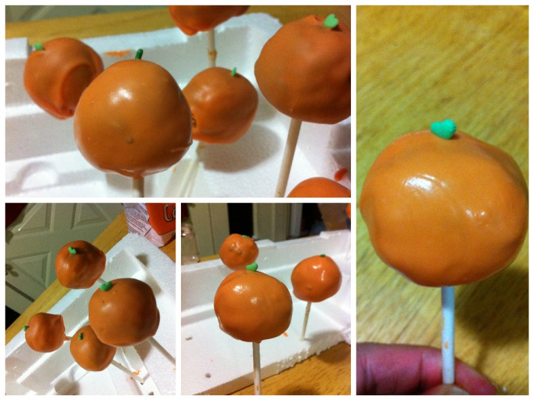 Here's a few pictures of the final Pumpkin Cake Pops