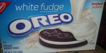 White Fudge Oreos. You gotta love Oreos.