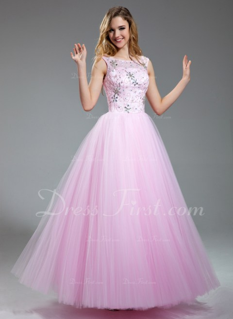 This pink dress almost looks as if it was taken out of the 1950's