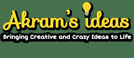 The previous Akram's Ideas Logo