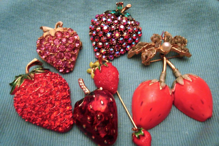 Strawberry Brooches